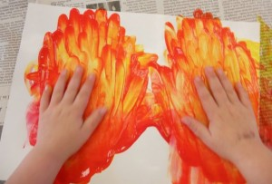 flame painting