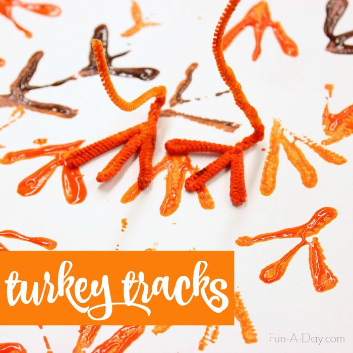 Turkey-Tracks-turkey-art-for-kids-to-make-this-Thanksgiving