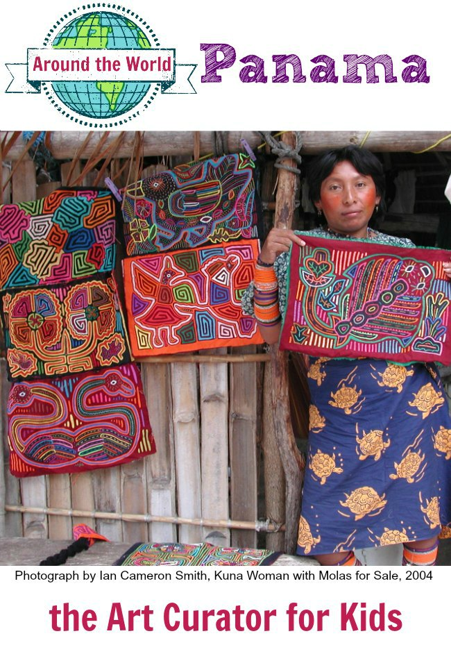The-Art-Curator-for-Kids-Art-Around-the-World-Panama-Kuna-Woman-with-Molas1